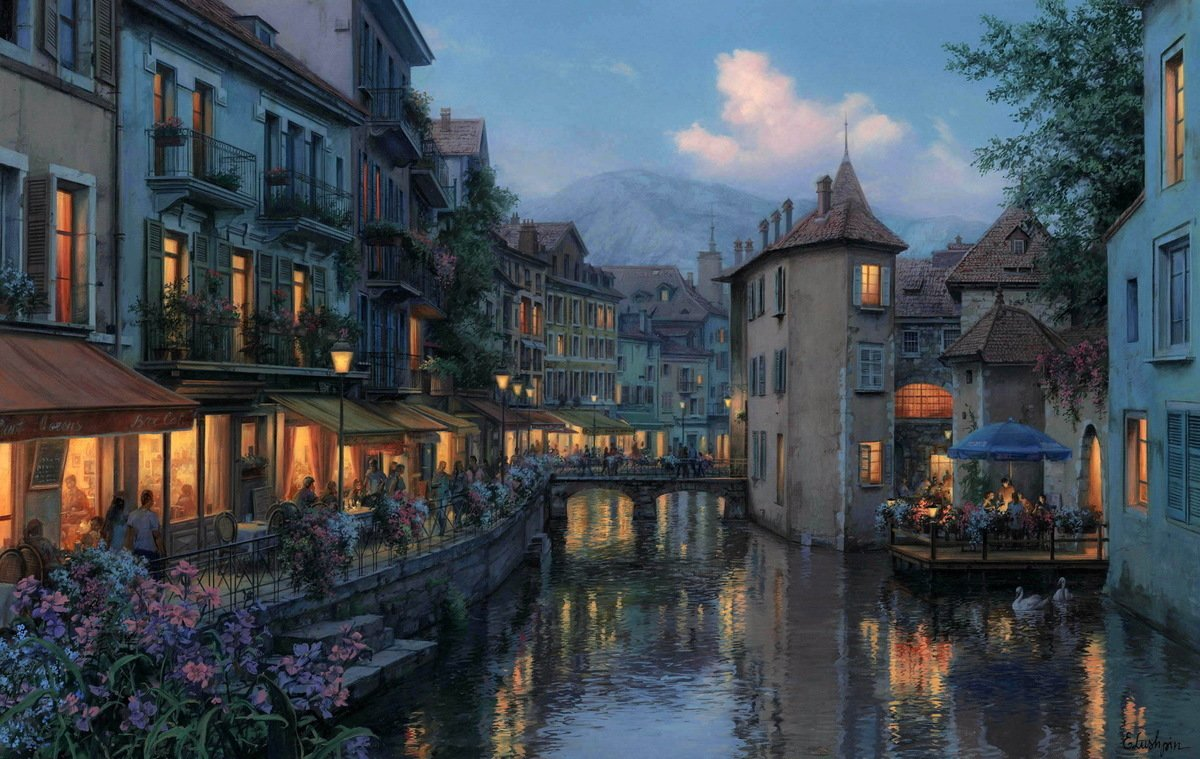 Evening in Annecy
