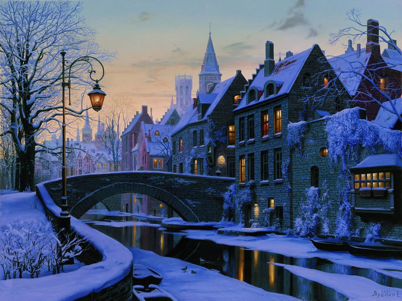 Winter Evening in Brugge